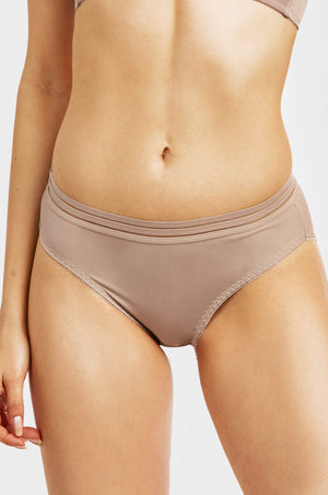 MOPAS LADIES NYLON BIKINI PANTY (LP6146NK)