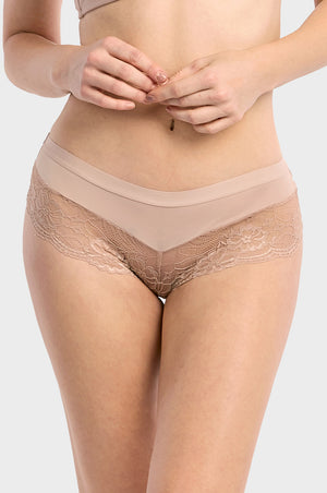 ET TU LADIES LACE TRIM HIPSTER (LP7274PH2)