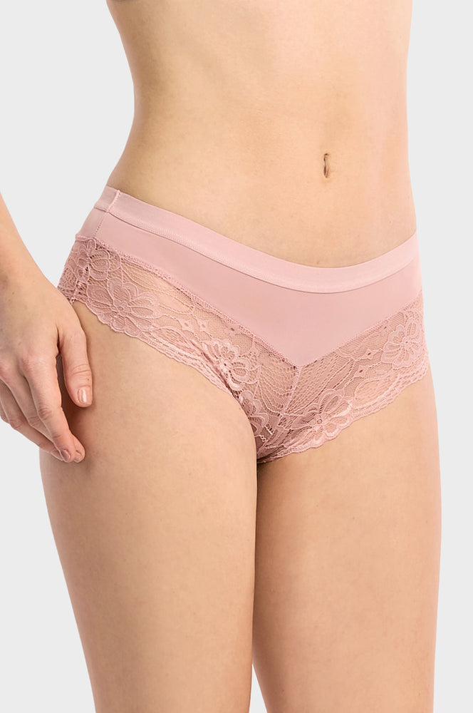 Load image into Gallery viewer, ET TU LADIES LACE TRIM HIPSTER (LP7274PH2)