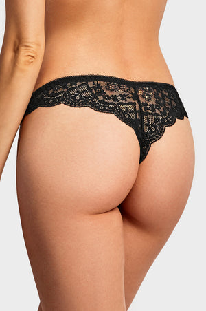 SOFRA LADIES LACE THONG PANTY (LP9023LT1)