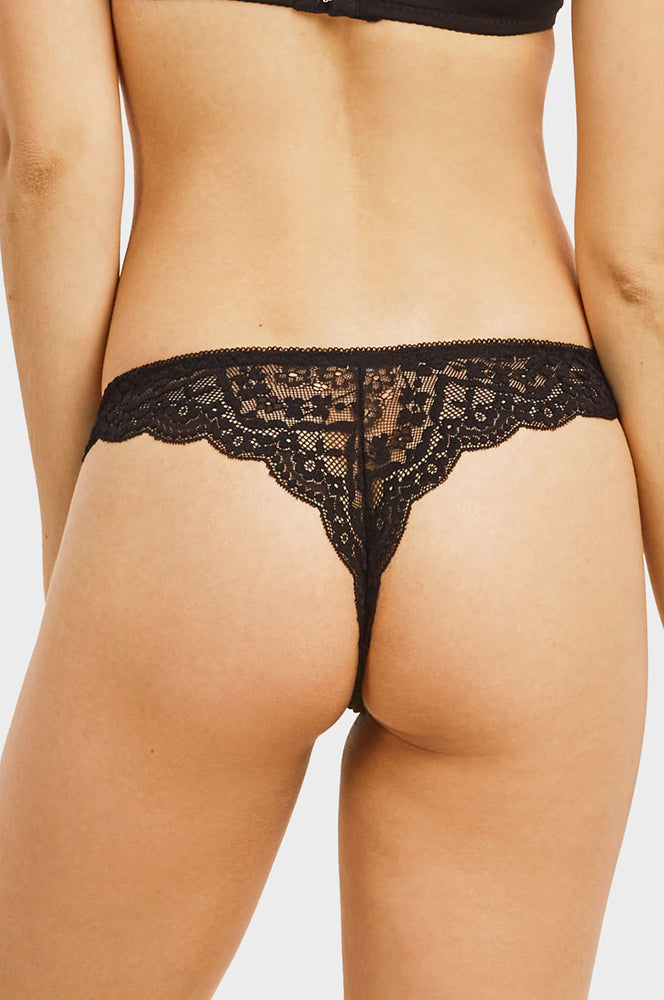 SOFRA LADIES LACE THONG PANTY (LP9023LT2) - BOX ONLY