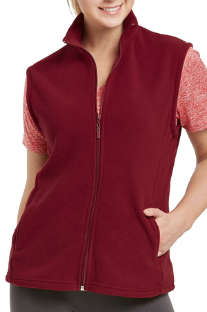 ET TU LADIES POLAR FLEECE VEST (LPF100E_BURG_3PCS)