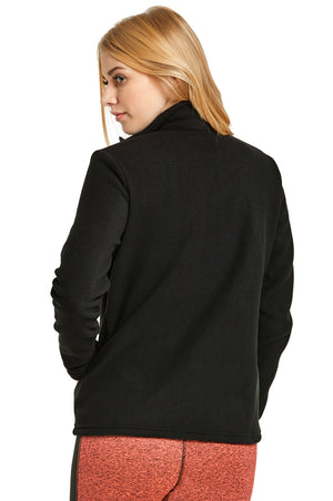ET TU LADIES POLAR FLEECE JACKET (LPF200E_BLACK_3PCS)