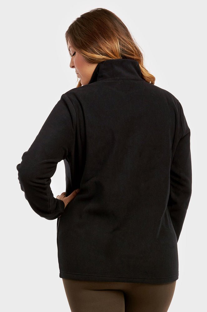 ET TU LADIES POLAR FLEECE JACKET PLUS SIZE (LPF200XE_BLK_3PCS)