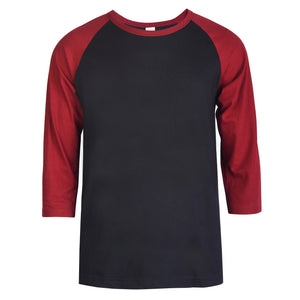Load image into Gallery viewer, TOP PRO MEN'S 3/4 SLEEVE BASEBALL TEE (MBT001_BUR/BL)