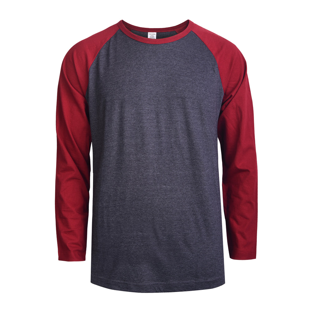 Load image into Gallery viewer, TOP PRO MEN'S LONG SLEEVE BASEBALL TEE (MBT002_BUR/C.GR)