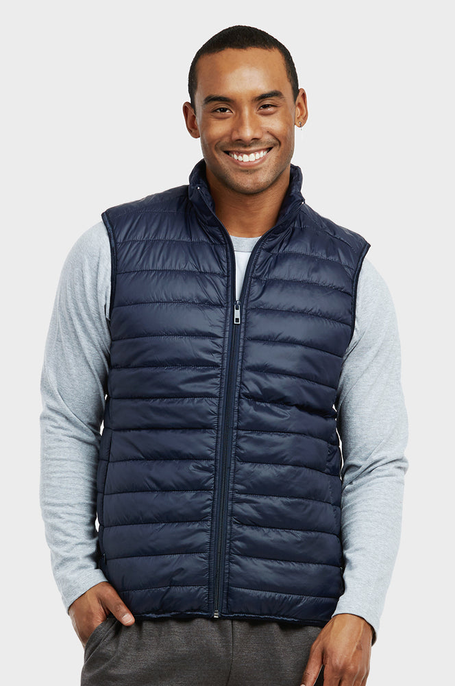 Load image into Gallery viewer, ET|TU MEN'S LIGHTWEIGHT PUFFER VEST (MPV200E_NAVY)