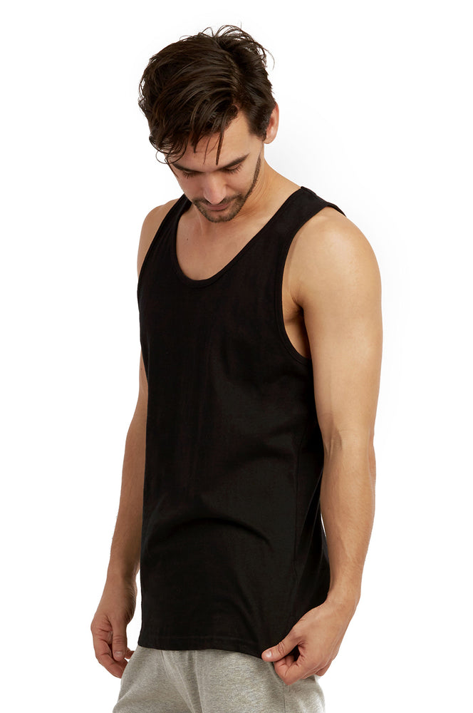 COTTONBELL MEN'S HEAVY TANK TOP (MT200C_BLACK)
