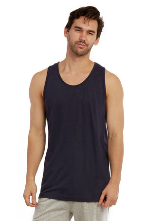 COTTONBELL MEN'S HEAVY TANK TOP (MT200C_NAVY)
