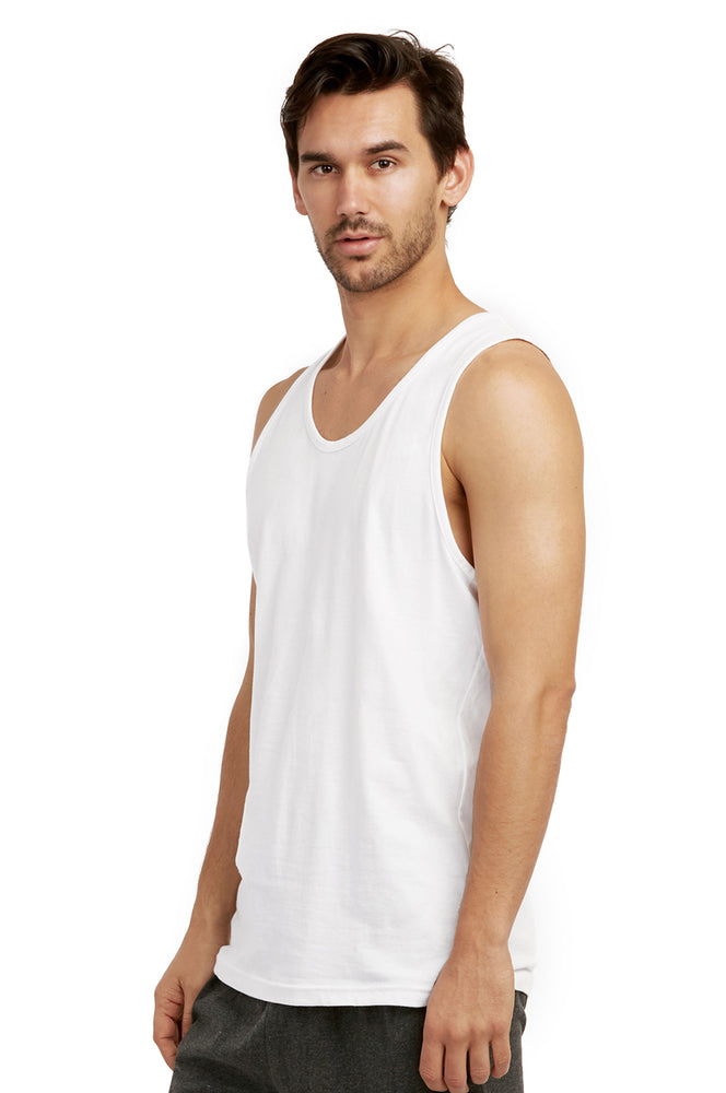 COTTONBELL MEN'S HEAVY TANK TOP (MT200C_WHITE)