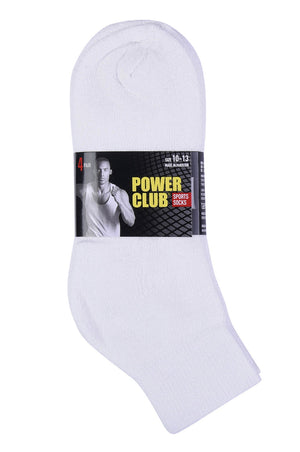 Load image into Gallery viewer, POWER CLUB QUARTER SPORTS SOCKS (PC284_WHITE)