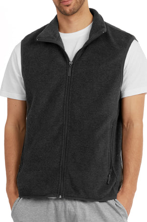 Load image into Gallery viewer, ET TU MEN'S POLAR FLEECE VEST (PF1500E_CH-GR)