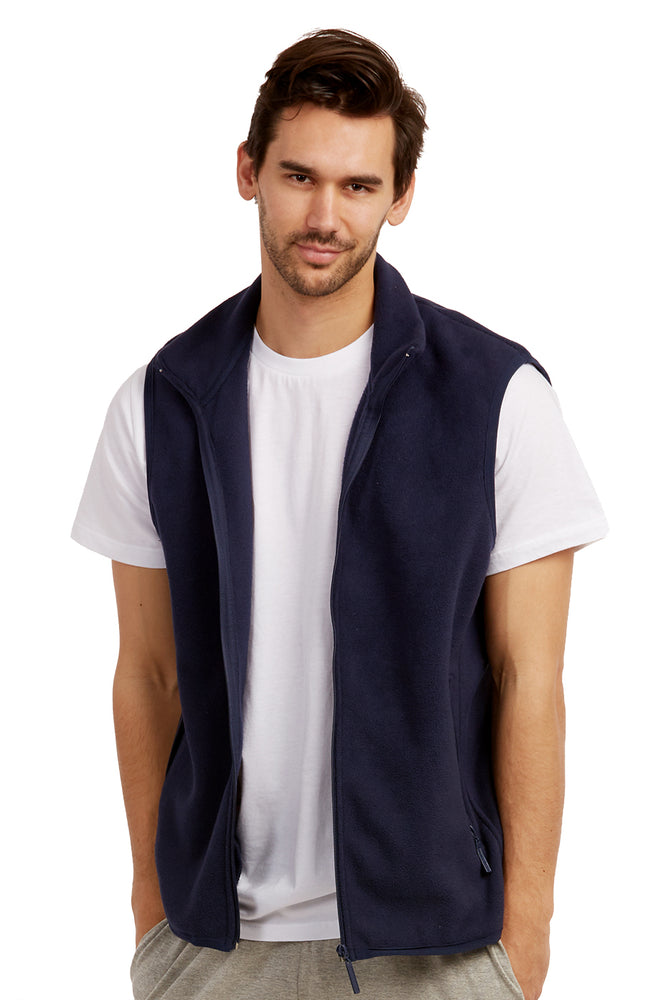 ET TU MEN'S POLAR FLEECE VEST (PF1500E_NAVY)