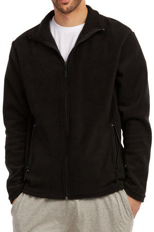 ET TU MEN'S POLAR FLEECE JACKET (PF2000E_BLACK)