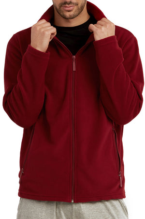 ET TU MEN'S POLAR FLEECE JACKET (PF2000E_BURG)