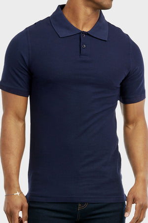 Load image into Gallery viewer, KNOCKER MEN'S SLIM POLO SHIRT (POLO2000_NAVY)