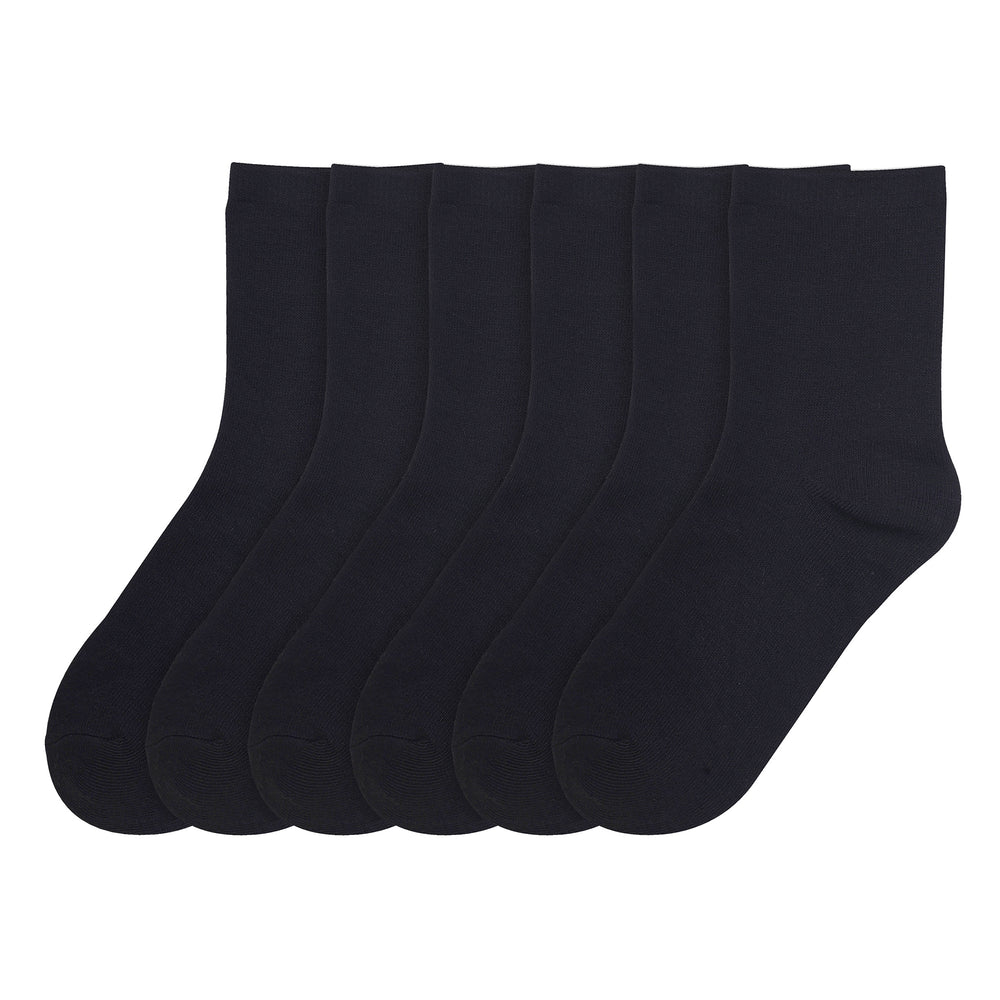 Load image into Gallery viewer, PODE BOY'S PLAIN CREW SOCKS (BLACK)
