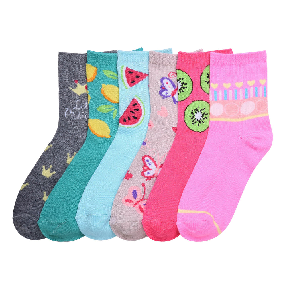 Load image into Gallery viewer, MOPAS GIRL'S DESIGN CREW SOCKS (G002) - 0-12, 2-3, 4-6, 6-8
