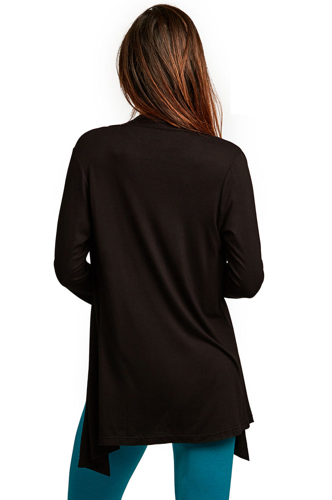 Load image into Gallery viewer, ET TU LADIES RAYON CARDIGAN (RC001E_BLACK)
