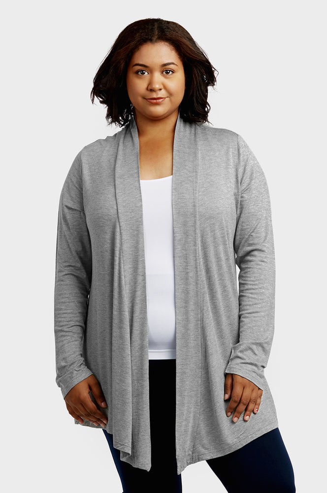 SOFRA LADIES RAYON CARDIGAN PLUS SIZE (RC001X)