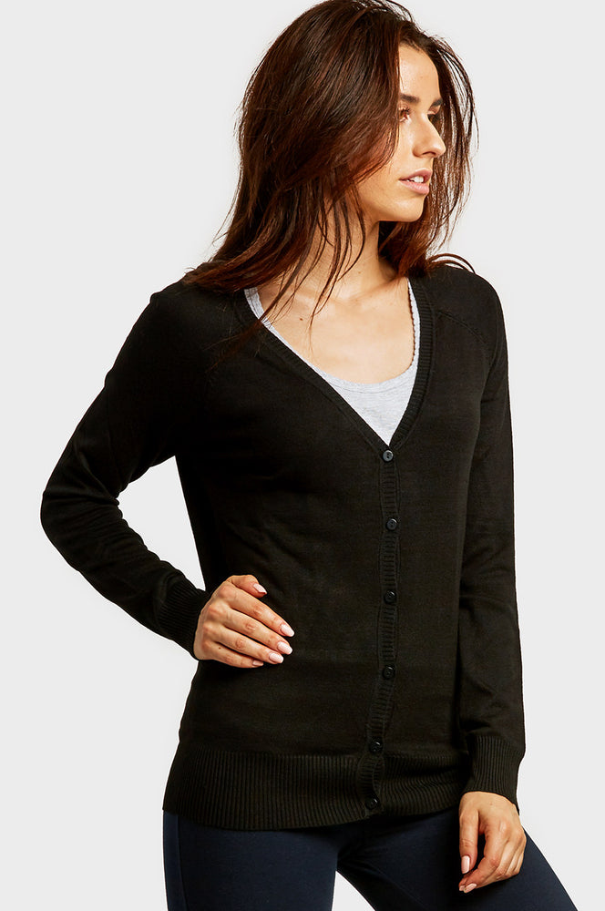 SOFRA LADIES RAYON CARDIGAN W/ BUTTONS (RC004)