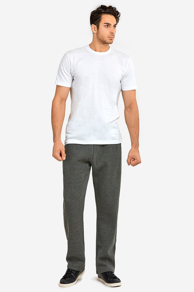 KNOCKER MEN'S H.W SLIM FIT FLEECE SWEAT PANTS (SP1000S_CH/GR)