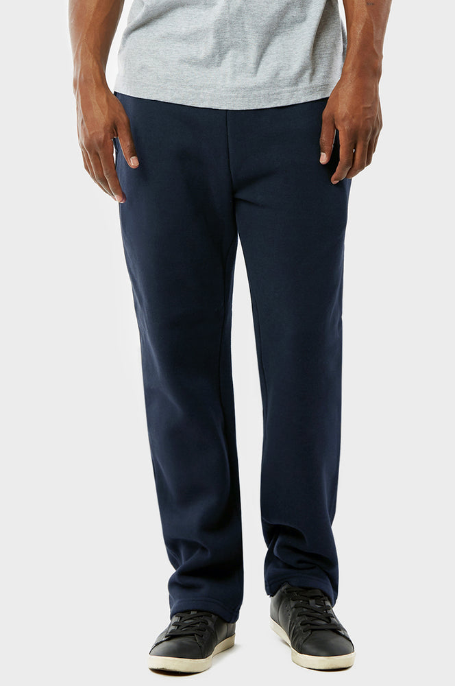 KNOCKER MEN'S H.W SLIM FIT FLEECE SWEAT PANTS (SP1000S_NAVY)