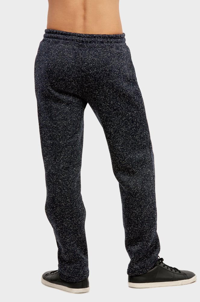 Load image into Gallery viewer, KNOCKER MEN'S MEDIUMWEIGHT FLEECE SPACEDYE SWEATPANTS (SP1010_NVM)