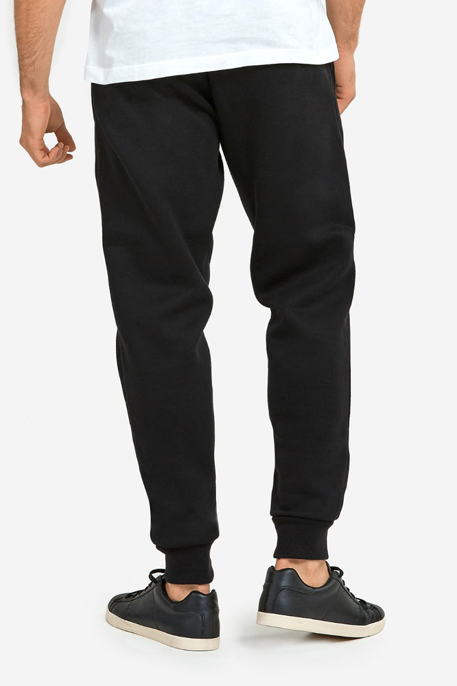 Load image into Gallery viewer, KNOCKER MEN'S HEAVY WEIGHT JOGGER FLEECE SWEATPANTS (SP1100_BLACK)