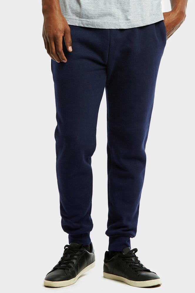 Load image into Gallery viewer, KNOCKER MEN'S H.W SLIM FIT FLEECE JOGGER PANTS (SP1100S_NAVY)