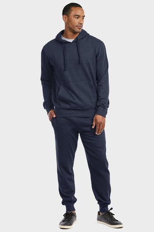 ET TU MEN'S LIGHTWEIGHT FLEECE JOGGER PANTS (SP1120E_NAVY)