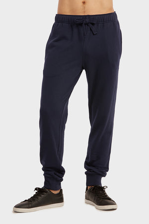 Load image into Gallery viewer, KNOCKER MEN'S TERRY JOGGERS (SP3100_NAVY)