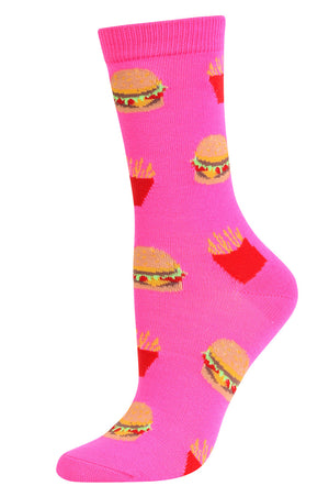 Load image into Gallery viewer, SOFRA WOMEN'S NOVELTY CREW SOCKS (SSC101_BRGRFR)