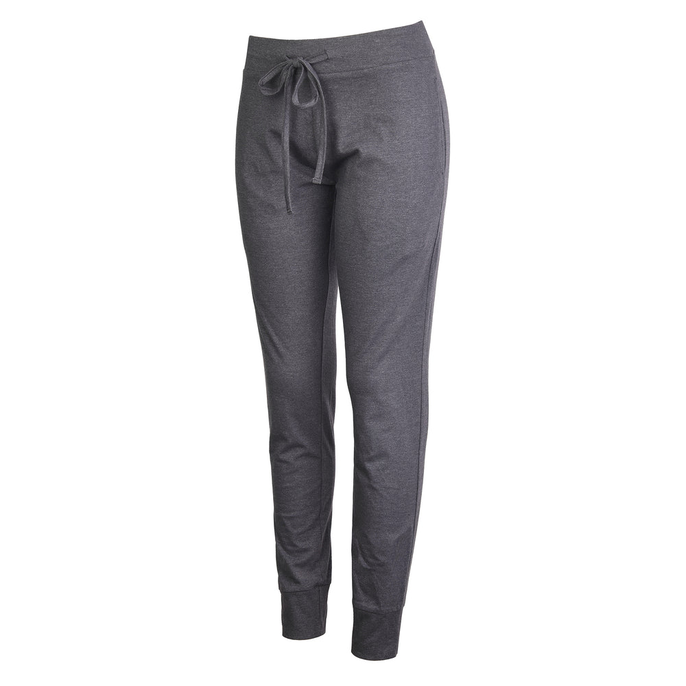 LADIES LIGHTWEIGHT COTTON JOGGER PANTS WITH POCKETS (SWP401_CHC-GR)
