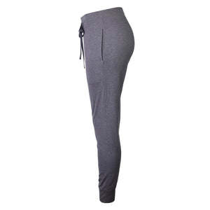 Load image into Gallery viewer, LADIES LIGHTWEIGHT COTTON JOGGER PANTS WITH POCKETS (SWP401_CHC-GR)