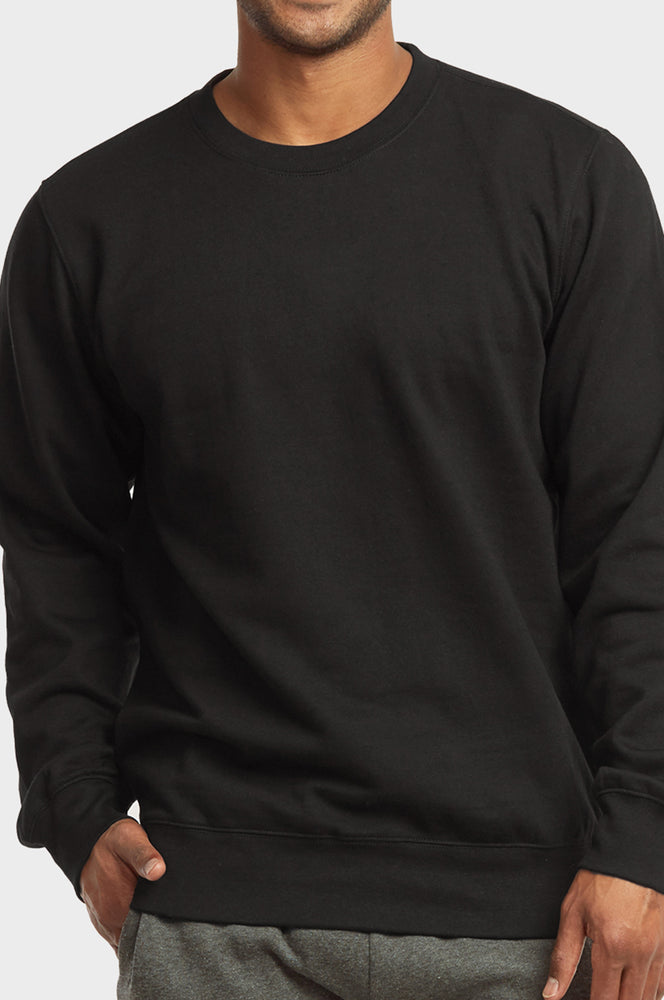 Load image into Gallery viewer, ET|TU MEN'S LIGHTWEIGHT FLEECE SWEATSHIRTS (SWS1020E_BLACK)