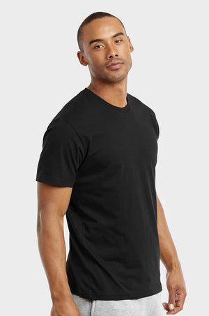 Load image into Gallery viewer, COTTONBELL MEN'S CREW NECK T-SHIRT (TR500C_BLACK)