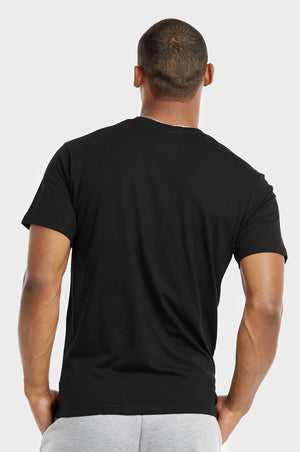 TOP PRO MEN'S CREW NECK T-SHIRT (TR500_BLACK)