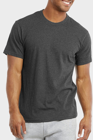 COTTONBELL MEN'S CREW NECK T-SHIRT (TR500C_CH-HT)