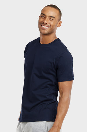 Load image into Gallery viewer, COTTONBELL MEN'S CREW NECK T-SHIRT (TR500C_NAVY)