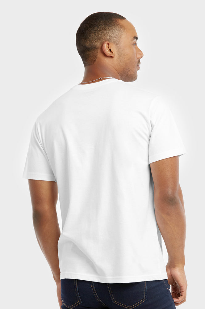 COTTONBELL MEN'S CREW NECK T-SHIRT (TR500C_WHITE)