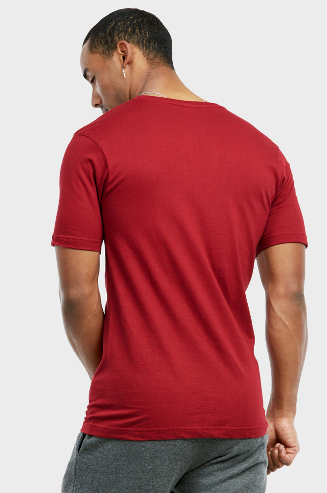 KNOCKER MEN'S CREW NECK T-SHIRT (TR700_BURG)