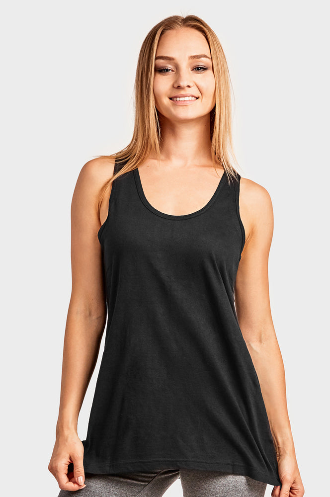Load image into Gallery viewer, COTTONBELL LADIES LOOSE FIT JERSEY TANK TOP (TT302C_BLACK)