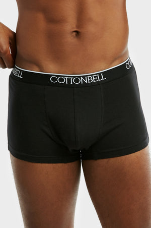 COTTONBELL MEN'S CLASSIC BOXER TRUNKS (TUB200C_BLACK)