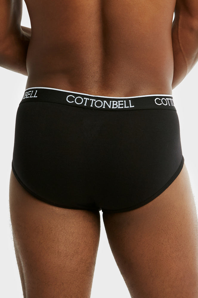 Load image into Gallery viewer, COTTONBELL MEN'S BAND BIKINI (TUB400C_BLACK)