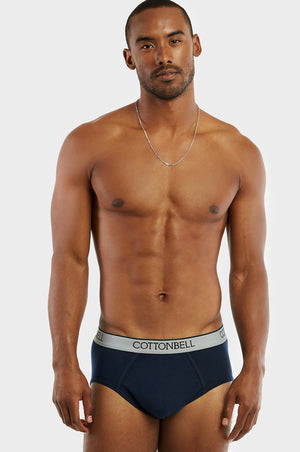 COTTONBELL MEN'S BAND BIKINI (TUB400C_NAVY)