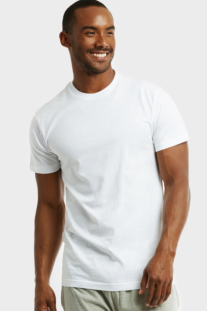 COTTONBELL MEN'S ROUND NECK T-SHIRT (TUT100C_WHITE)