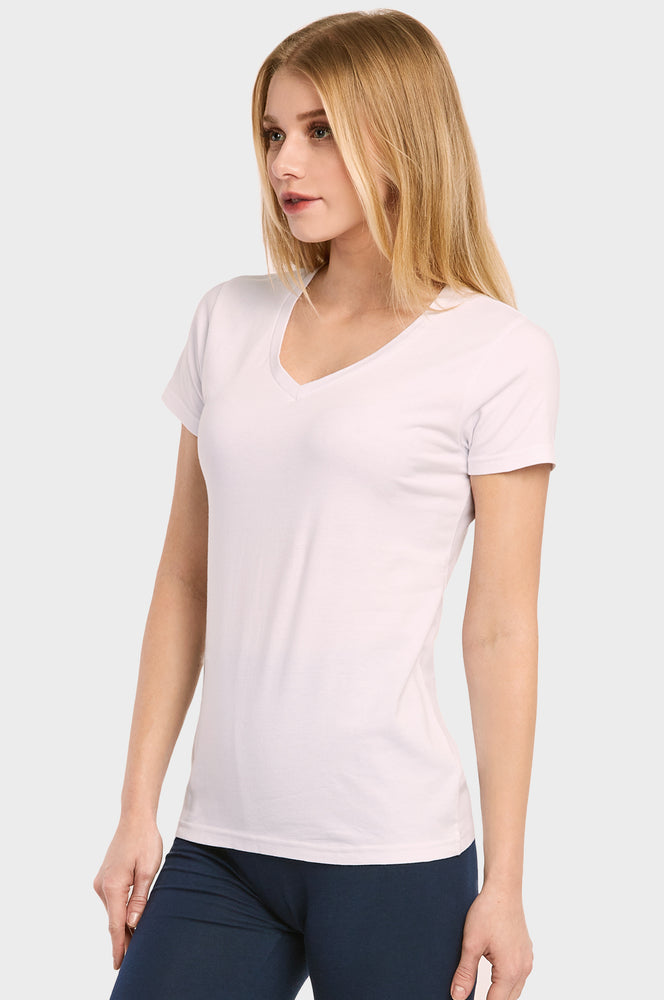 SOFRA LADIES CLASSIC FIT V NECK T-SHIRT (TV021)