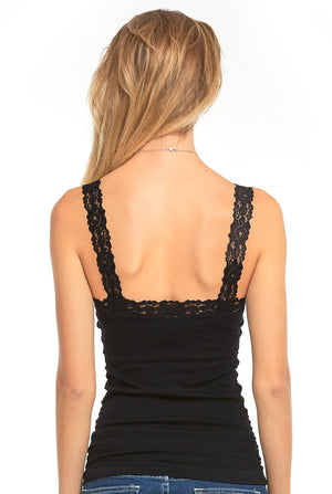Load image into Gallery viewer, MOPAS LADIES WRINKLED CAMISOL W/ LACE (TWC306)