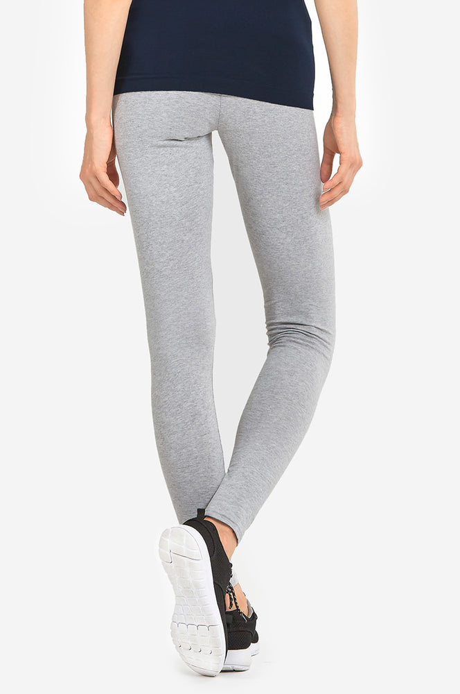 SOFRA LADIES COTTON LEGGINGS (WP4000_H.GRY)